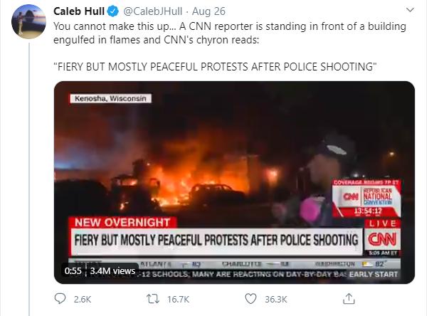 CNN peaceful protest