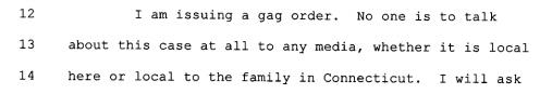 Johnston gag order