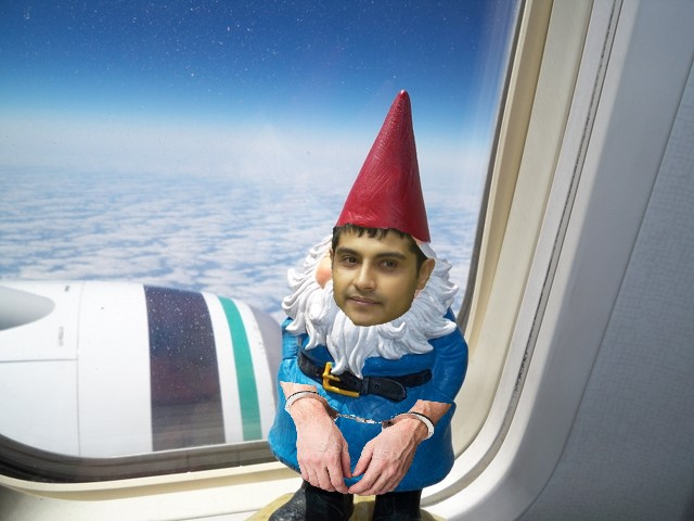 Marty as Travelocity gnome
