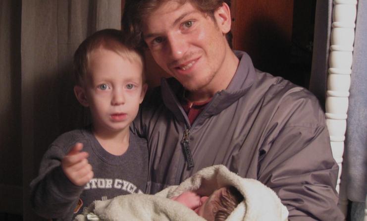 Schaeffer with kids