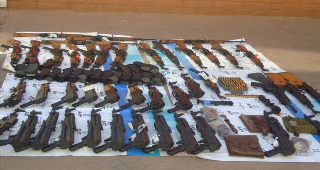 Weapons Seized Naco Sonora 20 Nov 2009