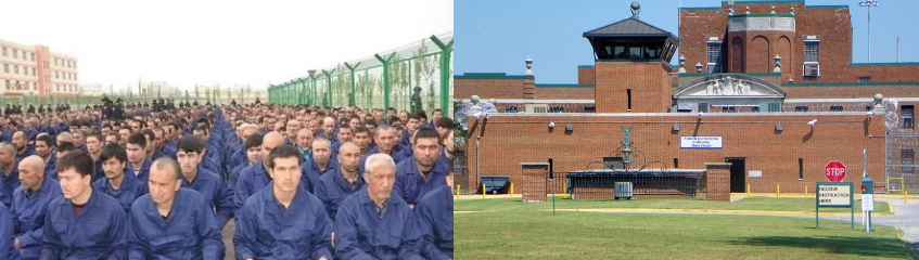 side by side detention camps